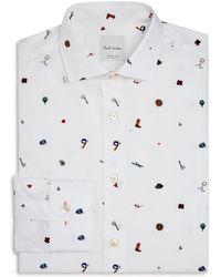 Paul Smith | 1970s Print Slim Fit Dress Shirt | Lyst