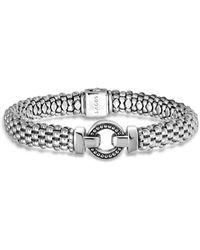 Lagos - Sterling Silver Beaded Bracelet - Lyst