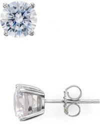 Aqua - Stud Earrings - Lyst