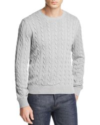 Brooks Brothers - Cable Knit Crewneck Sweater - Lyst