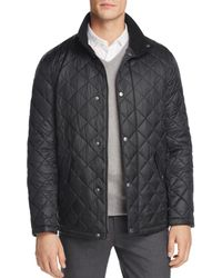 Cole Haan - Diamond Quilted Snap Jacket - Lyst
