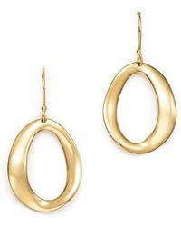 Ippolita - 18k Yellow Gold Cherish Single Link Drop Earrings - Lyst