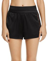 Kendall + Kylie - Satin & Lace Tap Shorts - Lyst