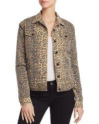 ATM - Leopard-print Denim Jacket - Lyst