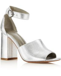 Joie - Women's Lahoma Leather High Block Heel Sandals - Lyst