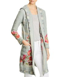 Johnny Was - Wysen Hooded Open Front Cardigan - Lyst