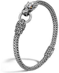 John Hardy - Sterling Silver & 18k Gold Naga Dragon Bracelet - Lyst