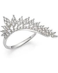KC Designs - 14k White Gold Diamond Wing Statement Ring - Lyst