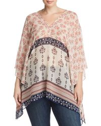 Vince Camuto Signature - Tile Wildflower Poncho - Lyst