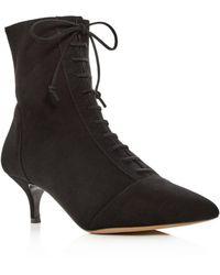 Tabitha Simmons - Women's Emmet Suede Kitten-heel Booties - Lyst