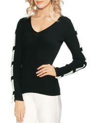 18d5af1819ec2 Lyst - TOPSHOP Ladder Stitch Marled Sweater Vest in Gray