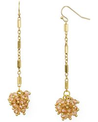 Aqua - Beaded Drop Earrings - Lyst