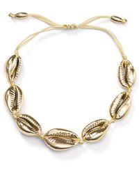 Aqua - Adjustable Shell Bracelet - Lyst