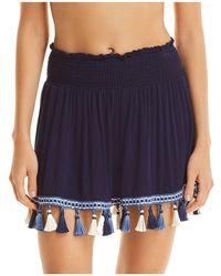 Surf Gypsy - Tassel Mini Skirt Swim Cover-up - Lyst