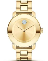 Movado Bold - Museum Dial Gold-Plated Watch - Lyst