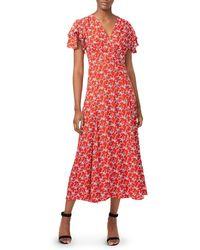 French Connection - Cerisier Midi Tea Dress - Lyst