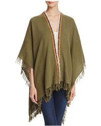 Gaynor - Oregon Striped Fringe Trim Ruana - Lyst