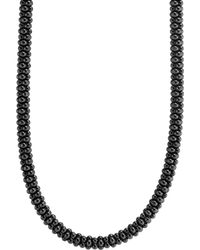 Lagos - Black Caviar Ceramic Necklace With 18k Gold - Lyst