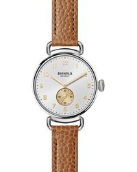 Shinola - The Canfield Stainless Steel & Leather Strap Watch - Lyst