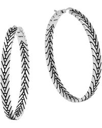John Hardy - Sterling Silver Modern Chain Hoop Earrings - Lyst
