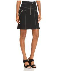 Karen Millen - Exposed-zip A-line Skirt - Lyst