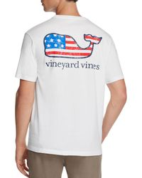 Vineyard Vines - Graphic Flag Whale Pocket Tee - Lyst