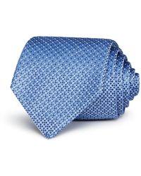 Armani Emporio Textural Pattern Classic Tie - Blue