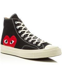 Play Comme des Garçons - Large Emblem High Top Canvas Sneakers - Lyst