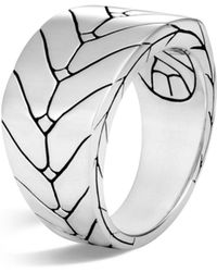 John Hardy - Men's Sterling Silver Modern Chain Band Ring - Lyst