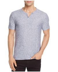 W.r.k. - Metro Textured Striped Henley - Lyst