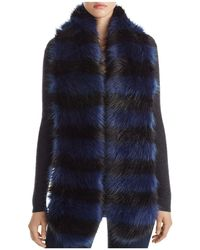 Bloomingdale's - Striped Faux Fur Stole - Lyst