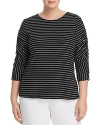 Vince Camuto Signature - Striped Cinch-sleeve Top - Lyst