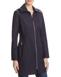 Via Spiga - Infinity Faux Leather-trimmed Raincoat - Lyst
