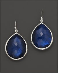 "Ippolita - ""midnight Wonderland"" Sterling Silver Rock Candy Large Single Teardrop Earrings In Midnight - Lyst"