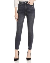 a44a5c2d84f1 Alice + Olivia - Alice + Olivia Good High - Rise Distressed Ankle Skinny  Jeans In