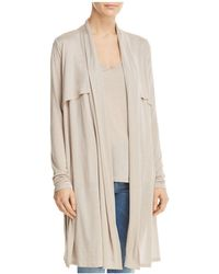 Three Dots - Open Front Duster Cardigan - Lyst