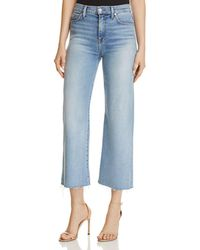 7 For All Mankind - Alexa Crop Wide Leg Jeans In Luxe Vintage Flora - Lyst