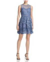 Aqua | Crochet & Lace Fit-and-flare Dress | Lyst
