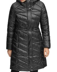 Marc New York - Brookdale Velvet Trim Puffer Coat - Lyst