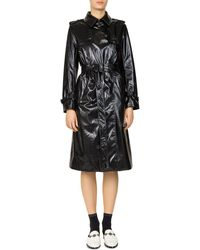 The Kooples - Crinkle Vinyl Trench Coat - Lyst