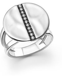 Ippolita - Sterling Silver Sensotm Split Band Disc Ring With Diamonds - Lyst