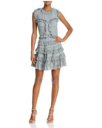 Rebecca Taylor - Vine Ruffled Silk Dress - Lyst