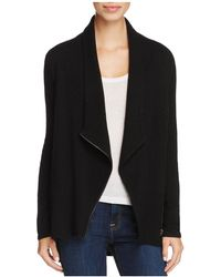 C By Bloomingdale's - Cashmere Zip-front Sweater Jacket - Lyst