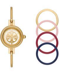 Tory Burch - The Reva Bangle Bracelet Watch Gift Set - Lyst