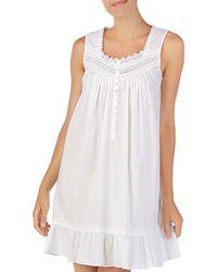 Eileen West - Sleeveless Short Cotton Ballet Nightgown - Lyst