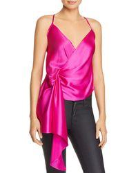 Michelle Mason - Draped Silk Camisole Top - Lyst