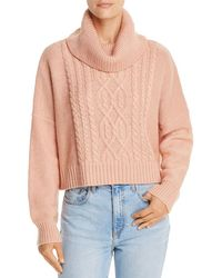 Jack BB Dakota - Say Anything Cropped Cable-knit Jumper - Lyst