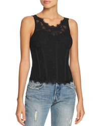 Guess - Moira Lace Bustier Top - Lyst