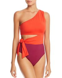Ralph Lauren - Lauren Glamour Color-block Cutout One Piece Swimsuit - Lyst