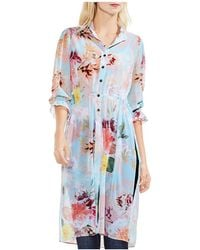Vince Camuto - Faded Blooms Side Slit Tunic - Lyst
